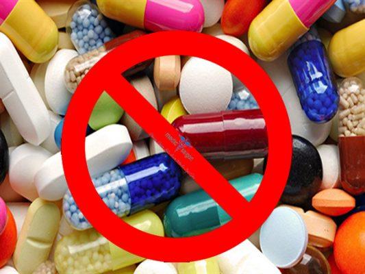 cấm uống thuốc