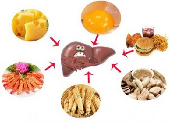 dinh dưỡng cho người bị bệnh gan