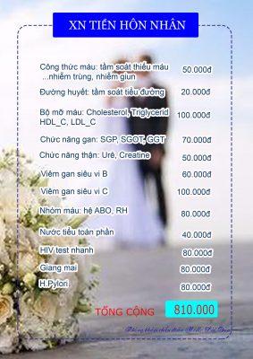 gói xét nghiệm tiền hôn nhân